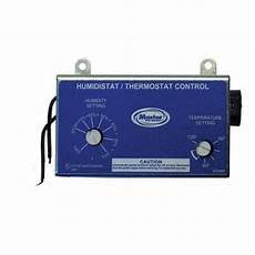 master flow manually adjustable humidistat thermostat combo for pg pr series vents ht1 the