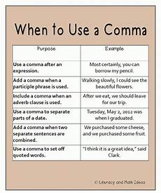 punctuation worksheets using commas 20910 when to use a comma teaching grammar writing gcse charts and