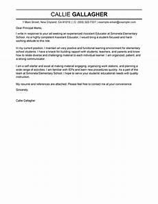 best assistant educator cover letter exles livecareer