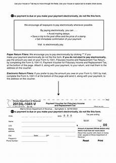 fillable form il 1041 v payment voucher for fiduciary