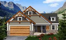 sloping house plans craftsman ranch for the sloping lot 89958ah