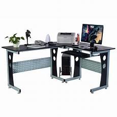 costway costway wood l shape corner computer desk pc