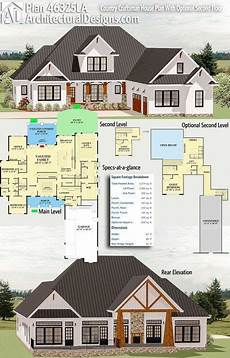 country craftsman house plans plan 46325la country craftsman house plan with optional