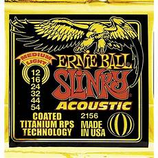 medium guitar strings ernie 2156 coated slinky medium light acoustic guitar strings musician s friend