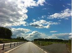 Gambar Alam Horison Bidang Jalan Raya Musim Panas