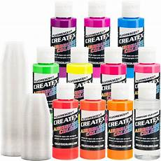 10 createx fluorescent colors airbrush paint craft hobby art walmart com