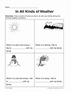 different weather worksheets 14532 in all kinds of weather printable pre k 1st grade teachervision