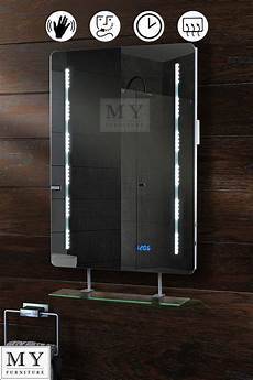 Illuminated Bathroom Mirrors With Shelf