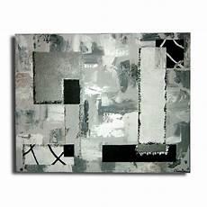 Tableau Contemporain Moderne Abstrait Noir Blanc