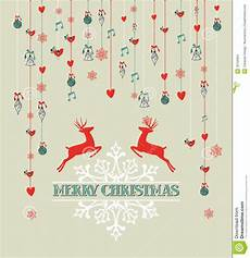 merry christmas vintage reindeer and bauble backgr stock vector image 33756364
