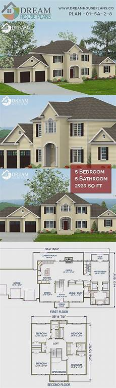 5 bedroom house plans with wrap around porch 5 bedroom 5 bathroom 2939 sq ft 01 5a 2 8 new