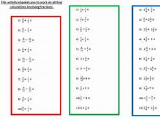 7 differentiated worksheets fractions for year 6 by