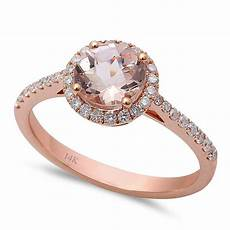 1 33ct f vs morganite round diamond 14kt rose gold engagement ring size 6 5 ebay