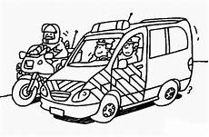 ausmalbilder zum drucken malvorlage polizeiauto kostenlos 3