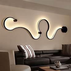 modern minimalist creative wall l black white led