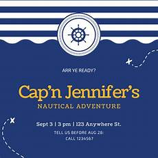 nautical postcard template customize 79 nautical invitation templates canva