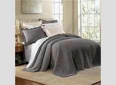 "Grey Oversized Bedspread   118""x122"" for King, $99   Need"