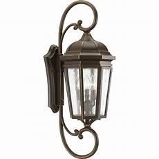 progress lighting verdae collection 3 light 30 5 in outdoor bronze wall lantern sconce