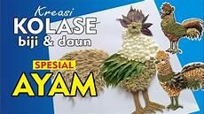 Kolase Gambar Ayam Dari Kertas Ginting Gambar
