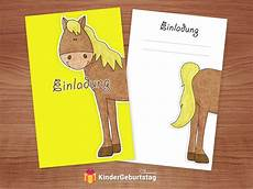 einladungskarten pferde zum kindergeburtstag kostenlose