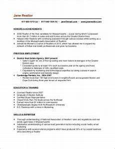 real estate resume exles resume exles