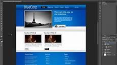 free website design tutorial designing a professional website using photoshop cs6 cs5 youtube