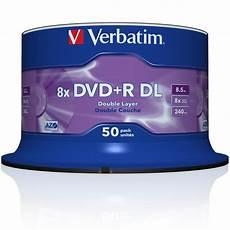 50x verbatim dvd r dl layer rohlinge 8 5gb 8x