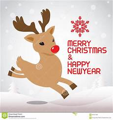 merry christmas and running rudolph stock vector illustration of illustrations image 46757180