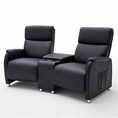 cinema kino 2er sessel sofa lederlook schwarz mit