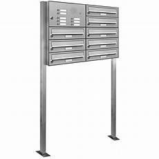 8er V2a Edelstahl Briefkasten Standanlage Freistehend Mit