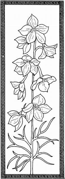 Ausmalbilder Rahmen Blumen Verzierter Rahmen Ausmalbild Malvorlage Blumen