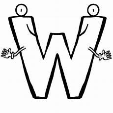 Buchstaben Malvorlagen Gratis Kostenlose Malvorlage Buchstaben Lernen Buchstabe W Zum