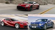 the aston martin dbs superleggera the 812 superfast the bentley continental gt