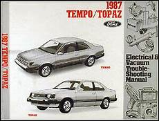 service manuals schematics 1985 ford tempo parking system 1987 ford tempo mercury topaz electrical troubleshooting manual original oem ebay