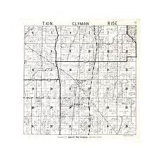 c dodge map dodge county 1950 wisconsin historical atlas