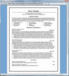 resume maker professional project scope template