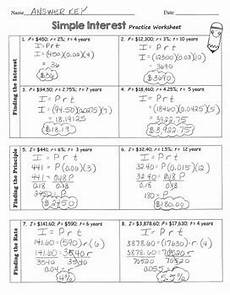 interactive notebook inb simple interest foldable and practice worksheet