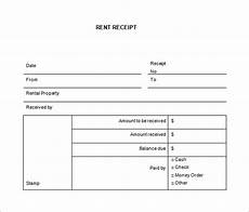 35 rental receipt templates doc pdf excel free