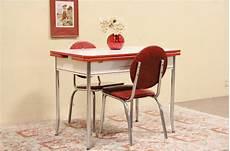 Vintage Kitchen Dinette Sets by Retro 1950 Enamel Chrome Kitchen Table 2 Chairs