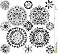 A Set Of Of Mandalas Stock Vector Illustration Of Exle