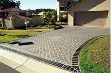 Hofeinfahrt Gestalten Ideen - driveways inspiration cobbleprint concrete australia