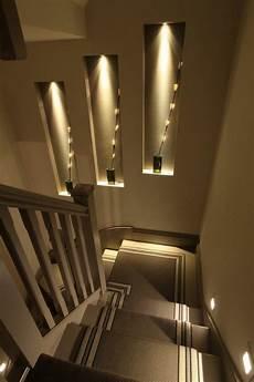 treppenaufgang wand gestalten modern chic stairs lighting staircase lighting ideas