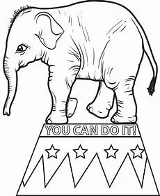 printable circus elephant coloring page for 2 supplyme