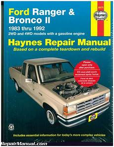 free car manuals to download 1985 ford ranger spare parts catalogs ford ranger pick up trucks and bronco ii 1983 1992 haynes truck repair manual