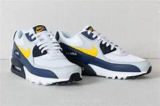 nike leather air max 90 essential white tour yellow blue