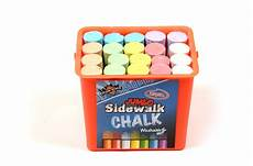 Amazon Com Chalk City Sidewalk Chalk 20 Count Regal Games Chalk City 20 Piece Jumbo Washable Sidewalk