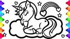 glitter unicorn coloring and drawing glitter unicorn