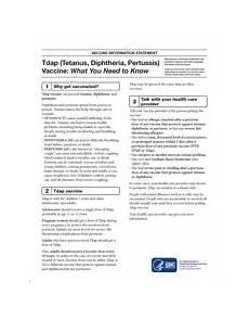 tdap tetanus diphtheria pertussis vaccine information statement