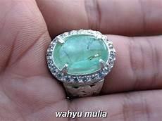Zamrud Emerald Beryl 2 5 Ct cincin batu zamrud colombia asli kode 820 wahyu mulia