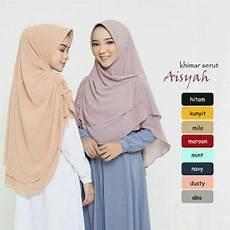 Jilbab Instan Khimar Aisyah Serut Sifon Ceruty Khimar